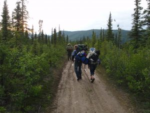 Hikers on the Stampede Trail