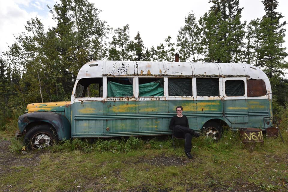 Annlis Fohlin at Bus 142 in August of 2016