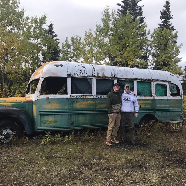Bob Falke & Justin Falke at Bus 142 in September of 2017