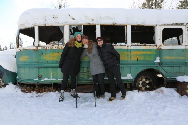 Christopher McCandless's Sisters Shelly, Carine & Shawna at Bus 142 in October of 2014