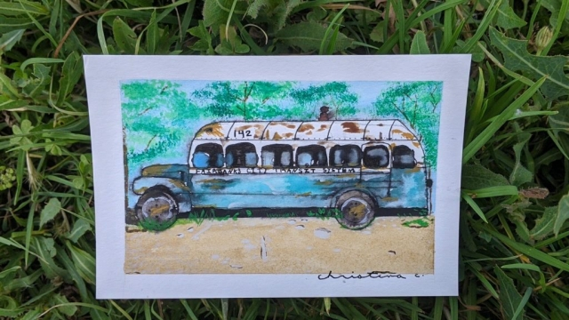Christina Cramer's Painting of Bus 142