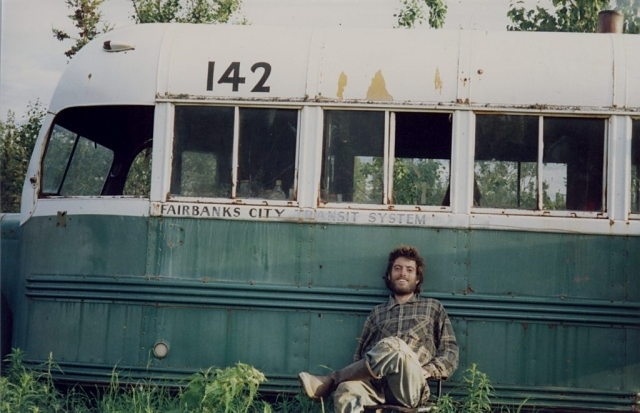 Christopher McCandless at Bus 142 in 1992