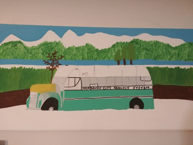 Courtney Baribeau's Painting of Bus 142