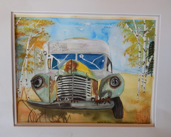 Dana Fraley's Painting of Bus 142