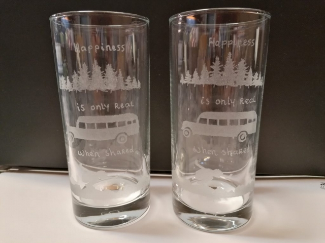 Diederik Blaauw's etched shot glasses