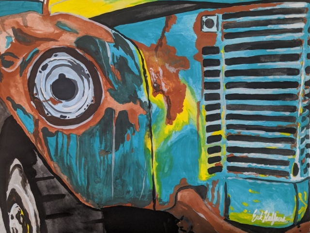 Erik Halfacre's Painting of Bus 142