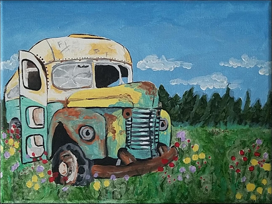 Jessica S's Painting of Bus 142