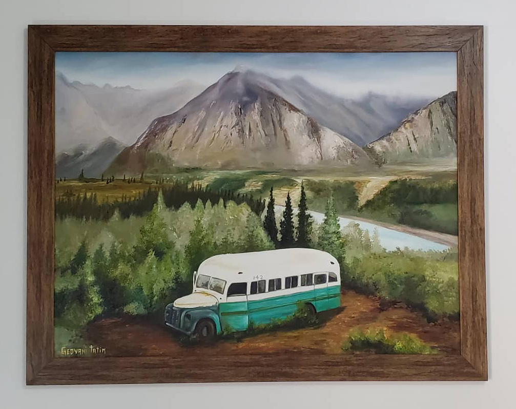 Geovani Tatim's Painting of Bus 142