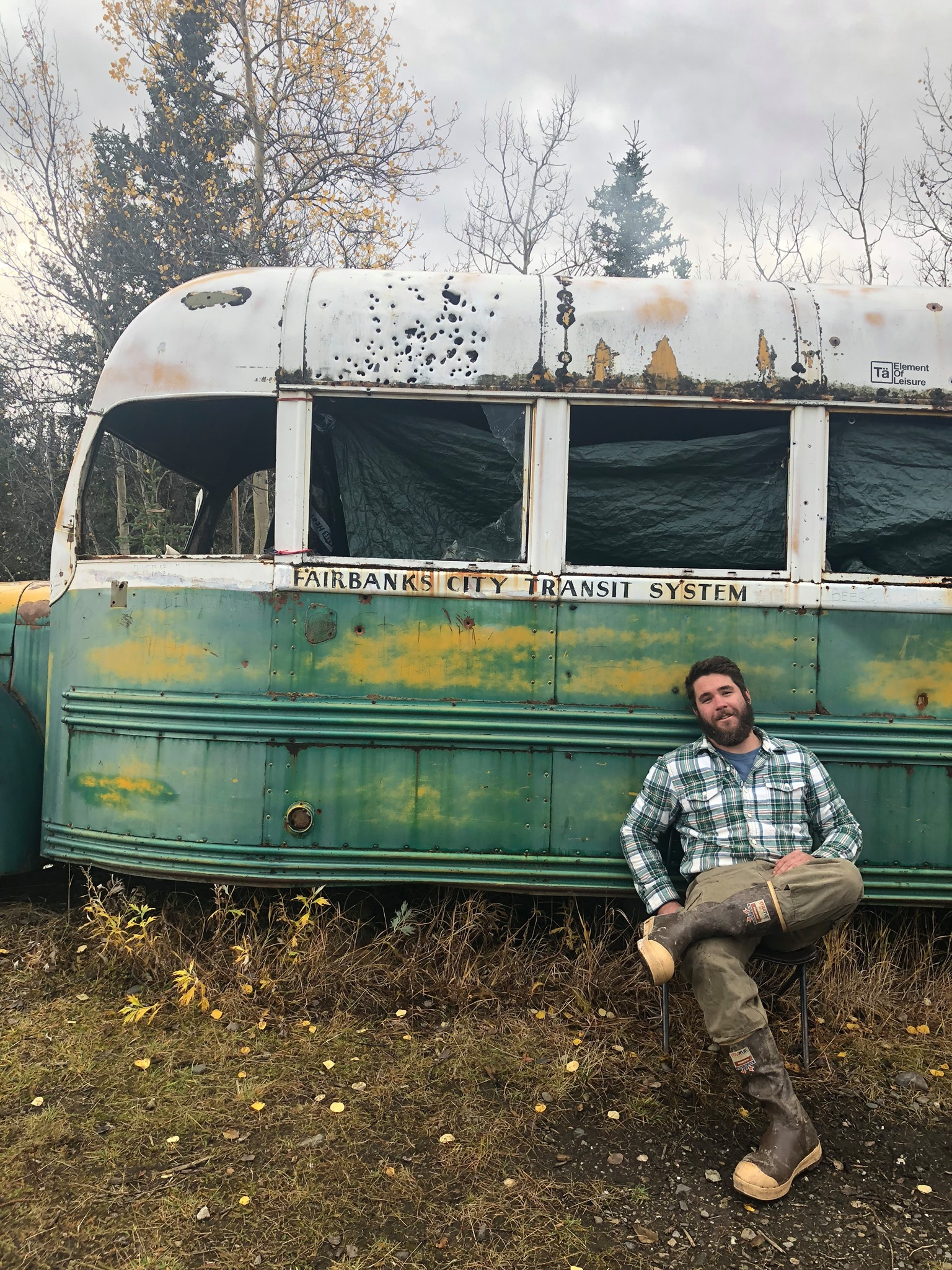 Josh Bourget at Bus 142 in September of 2018