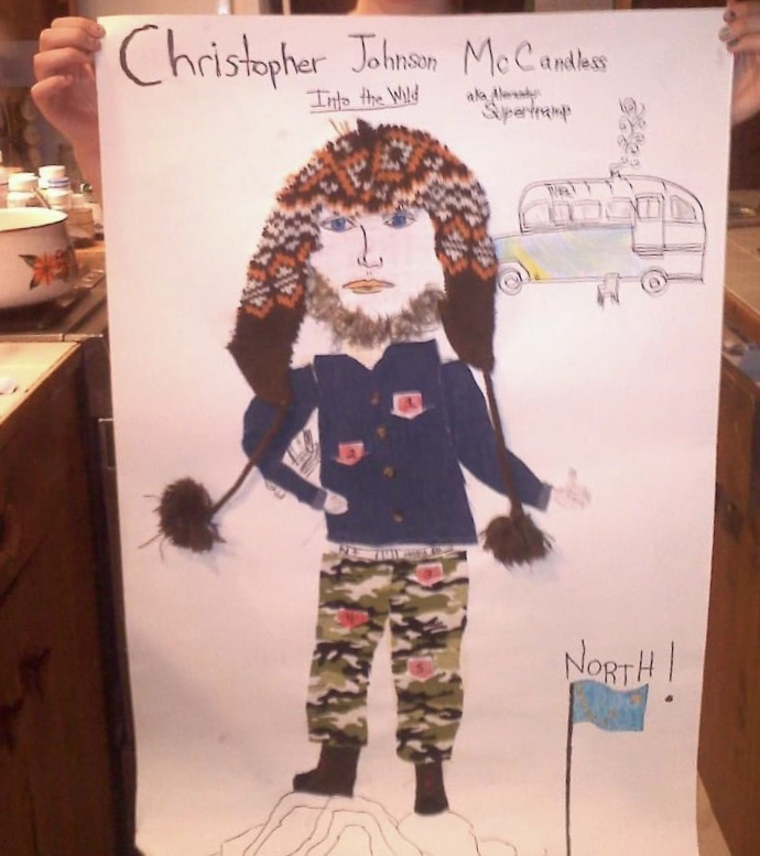 Madelyn Robertson's Artwork of Christopher McCandless