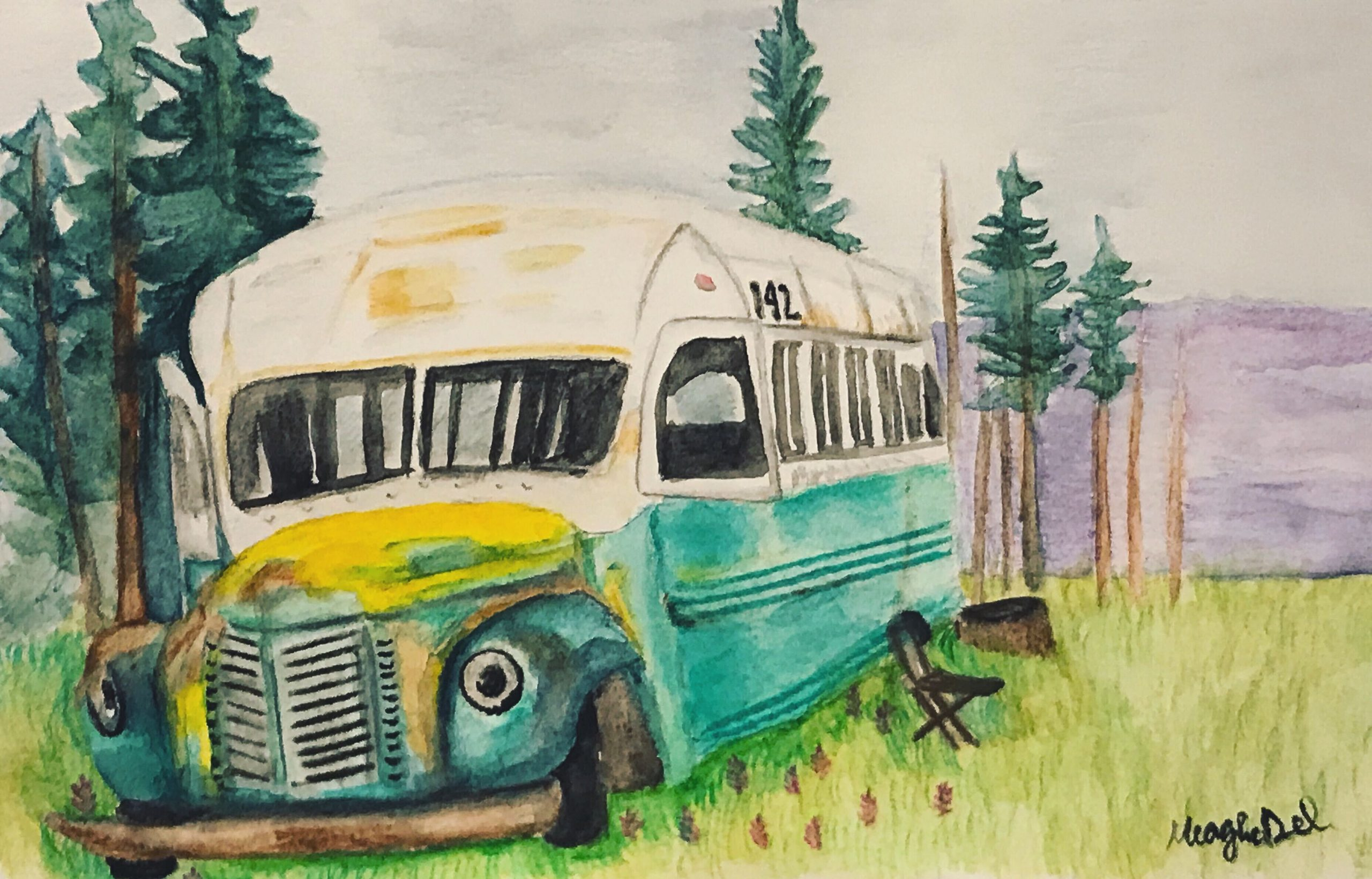 Meaghan Darwish's Painting of Bus 142