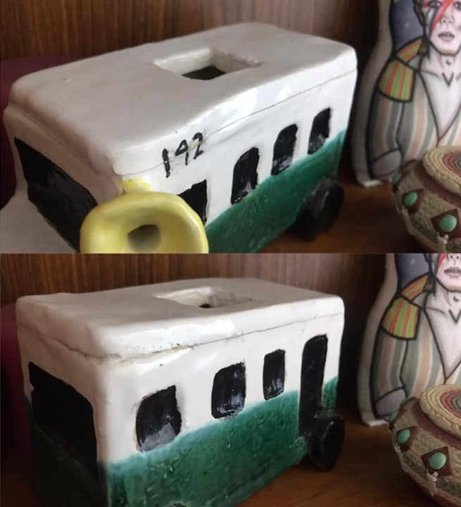 Michele Mauro's Ceramic Bus 142 Tea Pot