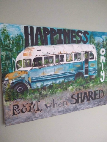 Michelle Walker's Painting of Bus 142