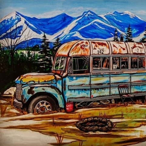 Ray Lucci's Painting of Bus 142