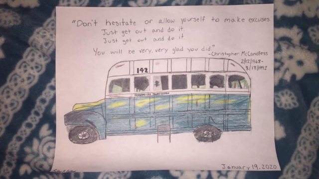 Riley Callery's Drawing of Bus 142