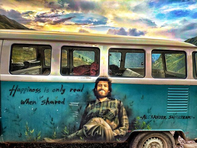Supertramp Hostel's Van Painting of Christopher McCandless