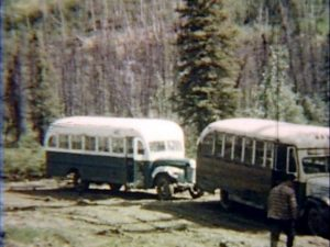 Bus 142 on the Stampede Trail at Savage River in 1961