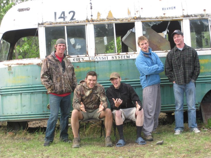 Dave Taggart, Stephen King, Brian Williams, Jared Williams, Wyatee Cook, Amelia Johnson & Mike Rosser at Bus 142 on June 4 2011