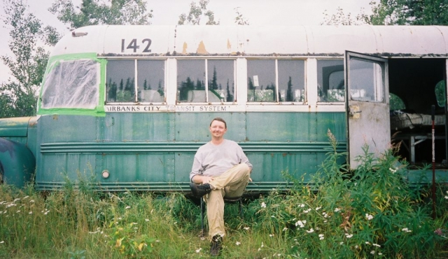 Jimmy Yaws at Bus 142 in August 2002