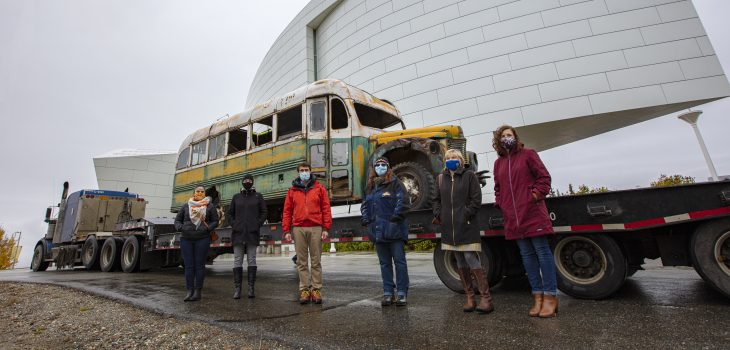 Bus 142 Arrives at UA Museum of the North